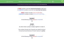 'Is it a Prime Number or Composite? (2)' worksheet