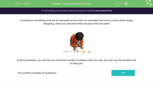 'Count and Write: 0-10 (1)' worksheet