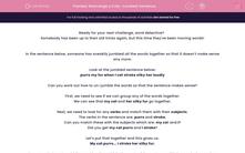 'Rearrange a Fully-Jumbled Sentence' worksheet