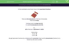 'Equivalent Fraction Patterns' worksheet