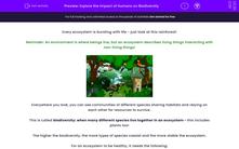 'Explore the Impact of Humans on Biodiversity' worksheet