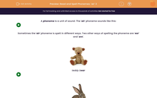 'Read and Spell Phonemes: 'air' 2' worksheet