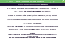 'GCSE Maths Paper Three (Higher) Practice Paper in the Style of AQA - Calculator' worksheet