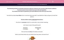 'Partial Word Practice 3' worksheet