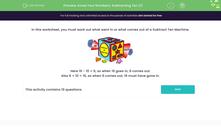 'Know Your Numbers: Subtracting Ten (1)' worksheet