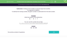 'Know Your Subtraction: Numbers from 0 to 20 (2)' worksheet