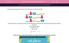 'Find a Simple Fraction of a Number' worksheet