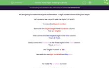 'Three Digits: Ordering by Words' worksheet