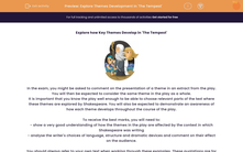 'Explore Themes Development in 'The Tempest'' worksheet