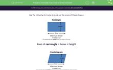 'Formulae: Can I Use an Area Formula?' worksheet