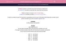 'Numbers: Prime or Composite? (2)' worksheet