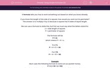 'Using Simple Formulae (2)' worksheet