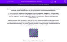 'Understand Giant Ionic Structures' worksheet