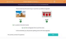 'Digraphs 'ai' and 'ay' 2' worksheet