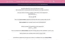 'Identify Sequence Types and Find Missing End Numbers' worksheet