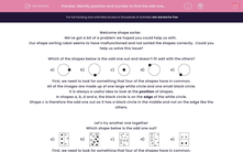 'Identify position and number to find the odd one out' worksheet