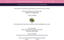 'Identify the words that best match one another' worksheet