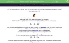 'Choosing Digits: Making a Sum Correct' worksheet
