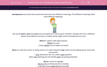'Know Your Homophones: where, were and we're' worksheet