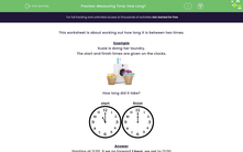 'Measuring Time: How Long?' worksheet