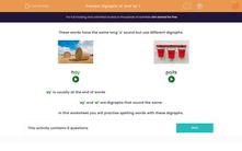 'Digraphs 'ai' and 'ay' 1' worksheet