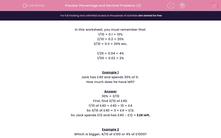 'Percentage and Decimal Problems (2)' worksheet
